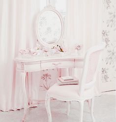 Shabby Chic Decor suggestion to look at now, must view outline number 1130514680 Pink Bedroom Decor, Shabby Chic Bedrooms, Dream Bedroom, Girls Bedroom, 1980s Bedroom, Bedroom Ideas, White Bedroom, Bedroom Wall, My New Room