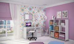 Conjunto para Quarto Home Office com Escrivaninha e Estante 9 Nichos com Rodízios Branco - Caaza