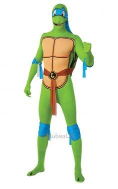 Ninja Turtle Leonardo Costume, Second Skin Collection - Superhero Costumes at Escapade