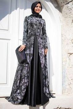 Francois J. Islamic Fashion, Muslim Fashion, Modest Fashion, Fashion Dresses, Hijabi Gowns, Hijab Abaya, Dress Brukat, Batik Dress, Evening Dress Patterns