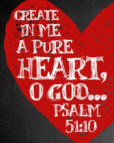 Please read entire description before purchase :) Psalm 51:10 - Create in me a pure heart, O God... Great for an office, girls room, or anywhere you need a little scripture reminder :) OPTIONS: This high resolution instant download printable comes in the 8 x 10 size. DELIVERY & Christian Life, Christian Quotes, Christian Decor, Teacher Appreciation Gifts, Teacher Gifts, Volunteer Appreciation, Bible Scriptures, Bible Quotes, Bible Prayers