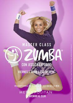 Master Class de Zumba con Jessica Expósito en Metropolitan Begoña. ¿Te lo vas a perder? Te esperamos el próximo viernes 3 Junio a las 18:30 h. Inscripciones en el área de socios de la web.