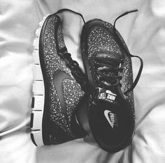 Black Sparkle Nike Shoes