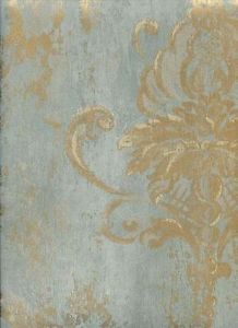 Vintage Damask Traditional Distressed Wallpaper Restaurant Gold Red Green Blue | eBay