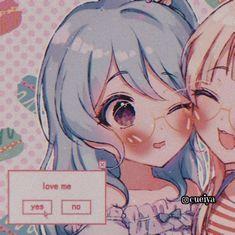 Loli Kawaii, Kawaii Anime Girl, Anime Art Girl, Anime Guys, Anime Best Friends, Friend Anime, Cute Anime Wallpaper, Couple Wallpaper, Cute Anime Pics