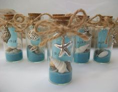 wedding favors Beach Message In Bottle Favor - Shell Starfish Charms, Beach Theme Wedding Bridal Shower Special Event Favor, Set of 6 Beach Wedding Reception, Beach Wedding Decorations, Beach Wedding Favors, Unique Wedding Favors, Wedding Ideas, Wedding Parties, Beach Theme Centerpieces, Wedding Themes, Beach Themed Weddings