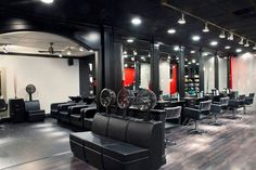 Salon A - Styling Area With Dryers