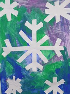 #Preschool At Home Theme idea - Snow , snowflake, snowman