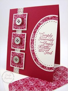 I'm on a roll with this stampin' up demonstrators examples on her website!   lovely!