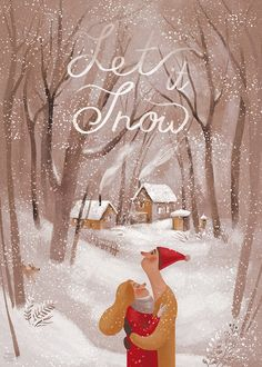 Illustration for the postcards and posters Winter Illustration, Christmas Illustration, Cute Illustration, Watercolor Illustration, Winter Magic, Winter Art, Wallpaper Natal, Photo Images, Affinity Designer