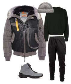 """Parachute Jumper"" by mh3914rp on Polyvore featuring Parajumpers, Ideology, Versace, Alexander Wang, men's fashion and menswear"