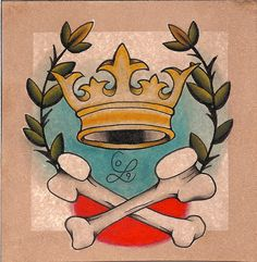 crown tattoo - i would love to put this crown on an elephant tattoo for giddy.
