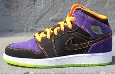 Air Jordan 1 Phat GS - Neon / Purple - Orange   KicksOnFire