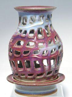 Hand Thrown Stoneware 'Window' lantern in by ellisonbaypottery, $87.00