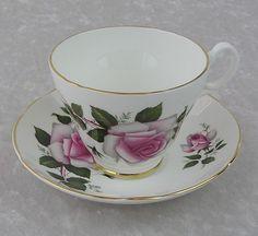 English Bone China Teacup & Saucer Set
