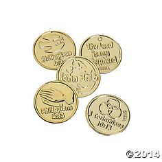 Bible Verse Goldtone Coins