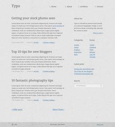 Typo WordPress Theme design