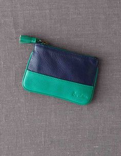 Colorblock coin purse from Boden