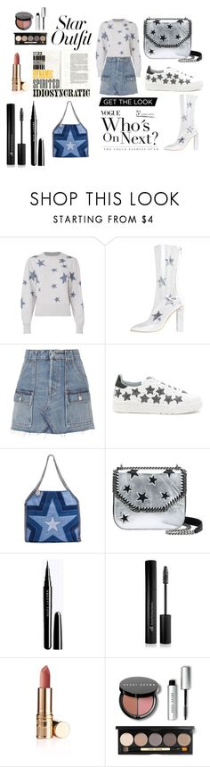 """kvjkf"" by sunshine-189 ❤ liked on Polyvore featuring Rebecca Taylor, RE/DONE, Chiara Ferragni, STELLA McCARTNEY, Forever 21, Bobbi Brown Cosmetics and StarOutfits"
