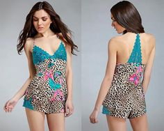 in bloom butterfly cami and short set  www.nightowllingerie.com