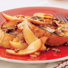 maple apple drenched french toast recipe