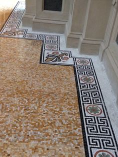 Gorgeous mosaic floor. Williamsburg Savings Bank.