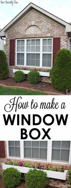 Stylish DIY Window Box, Front Yard Landscaping Ideas