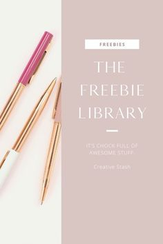 The Creative Stash Freebie Library is filled with free resources you can download right away. It's a fabulous freebie stash and you get first dibs. #freebies #Free #Library