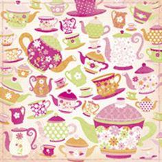 Kaisercraft Candy Lane teapot paper
