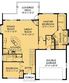 House Plan Information for 1500 sq ft I would change the basement layout. I don't need a 5 bedroom house. One bedroom in basement, The rest rec area and workshop. Small House Floor Plans, Dream House Plans, Small House Plans, Basement Layout, Cottage Plan, Cottage Ideas, House Blueprints, Cabin Plans, House Layouts