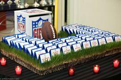 NFL Bar Mitzvah - Football - Sports - Escort Display - Place Cards