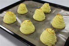 Bagte kartoffelmos - toppe opskrift fra Alletiders Kogebog blandt over 38.000 forskellige opskrifter på