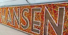 6 Letter #String Art Wooden Name #Tablet - Made to #Order, View more on the LINK: http://www.zeppy.io/product/gb/3/222027654/