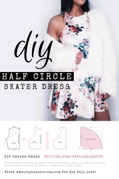 In this DIY I show you how to make a half circle skater dress. When I found this stunning floral print in a scuba knit, I knew I just had to make myself this skater dress. It can be dressed up or down depending on how you accessorize it - making it the perfect piece to transition from lunch with the girls to date night with a special someone!  Here is the link to the full blog post with the written instructions and images: http://www.rayleneharvey.com/diy-skater-dress