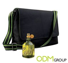 """GWP means """"Gift with Purchase"""" This is a common term to describe On Pack Promotions, but also refers to many other mechanisms for Promo Gifts. Promo Gifts, Promotional Bags, Liz Claiborne, Messenger Bag"""