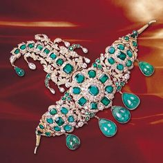 Royalty & their Jewelry - Emerald turban Pin  of Nizam of Hyderabad