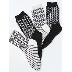 Bold two-tone chevron patterning looks great in these socks knit up in Patons Kroy Socks. (Patons Yarns)