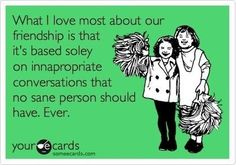 And that's why we are friends!