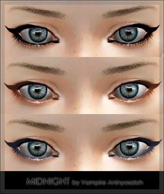 MIDNIGHT Eyeliner by Vampire_aninyosaloh - Sims 3 Downloads CC Caboodle