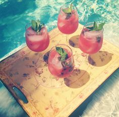 Watermelon Mojitos! Recipe on the blog! http://losangelesbrunette.blogspot.com/