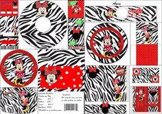 Minnie Cebra y Rojo: Etiquetas para Candy Bar para Imprimir Gratis.