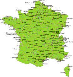 Carte des villes de France