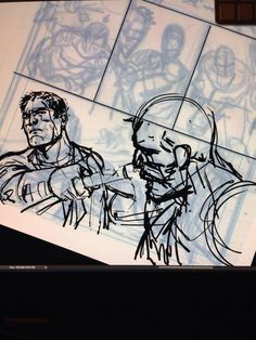 Marc Laming @monkey__marc On the @Wacom Cintiq. This is always the most fun part of making comics.