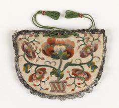 Purse, 1700s, France.