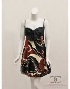 Trina Turk Black and Brown Cocktail Dress