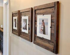 DIY Rustic Wood Frames, Reclaimed Wood Frame, Set of 5 x 7 Picture Frame with Mat, 8 x 10 picture Reclaimed Wood Picture Frames, Rustic Picture Frames, Rustic Frames, Picture On Wood, Rustic Wood, 10 Picture, Barn Wood Frames, Pallet Frames, Wood Wood