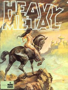 Heavy Metal Magazine Covers from The 1970s ~ vintage everyday