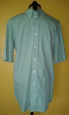 Ll bean plaid flannel button down shirt men 39 s large l for Ll bean wrinkle resistant shirts