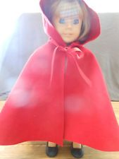 """Felicity American Girl 18/"""" Doll Cardinal Cloak ONLY EUC Retired PC"""