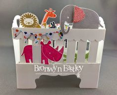 2015 A Card in a 'Box' - Baby Crib addINKtive designs: The Stamp Review Crew - Zoo Babies